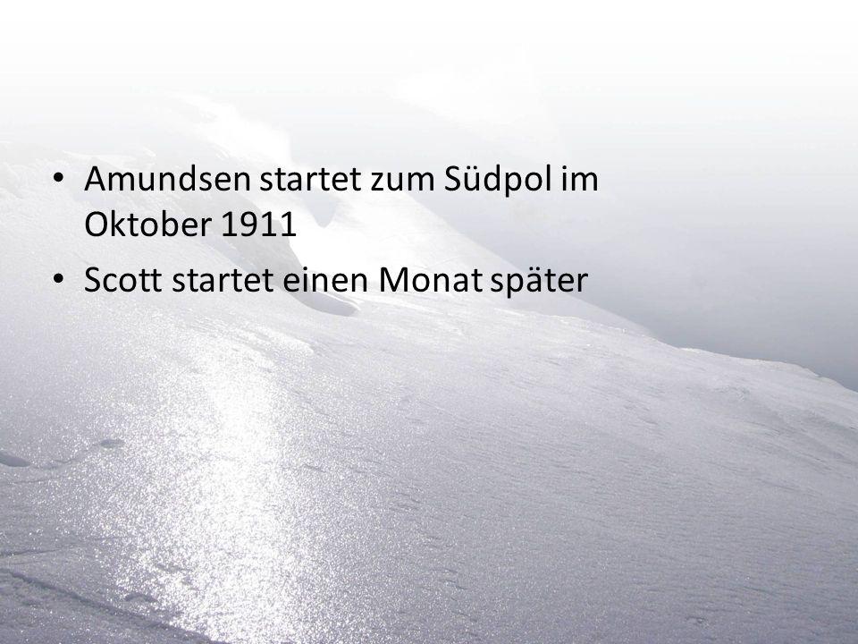 Amundsen startet zum Südpol im Oktober 1911