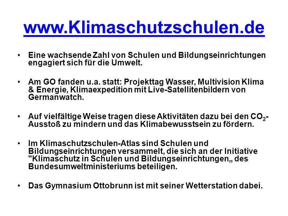 www.Klimaschutzschulen.de Eine wachsende Zahl von Schulen und Bildungseinrichtungen engagiert sich für die Umwelt.