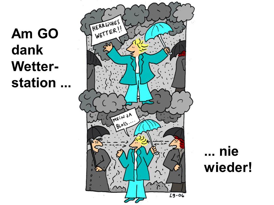 Am GO dank Wetter- station ... ... nie wieder!