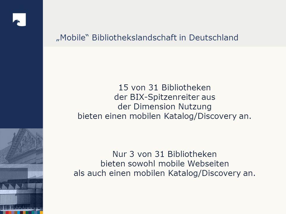 """""""Mobile Bibliothekslandschaft in Deutschland"""