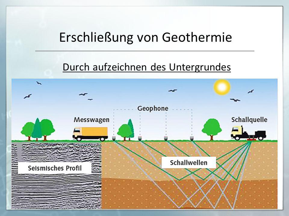 Erschließung von Geothermie