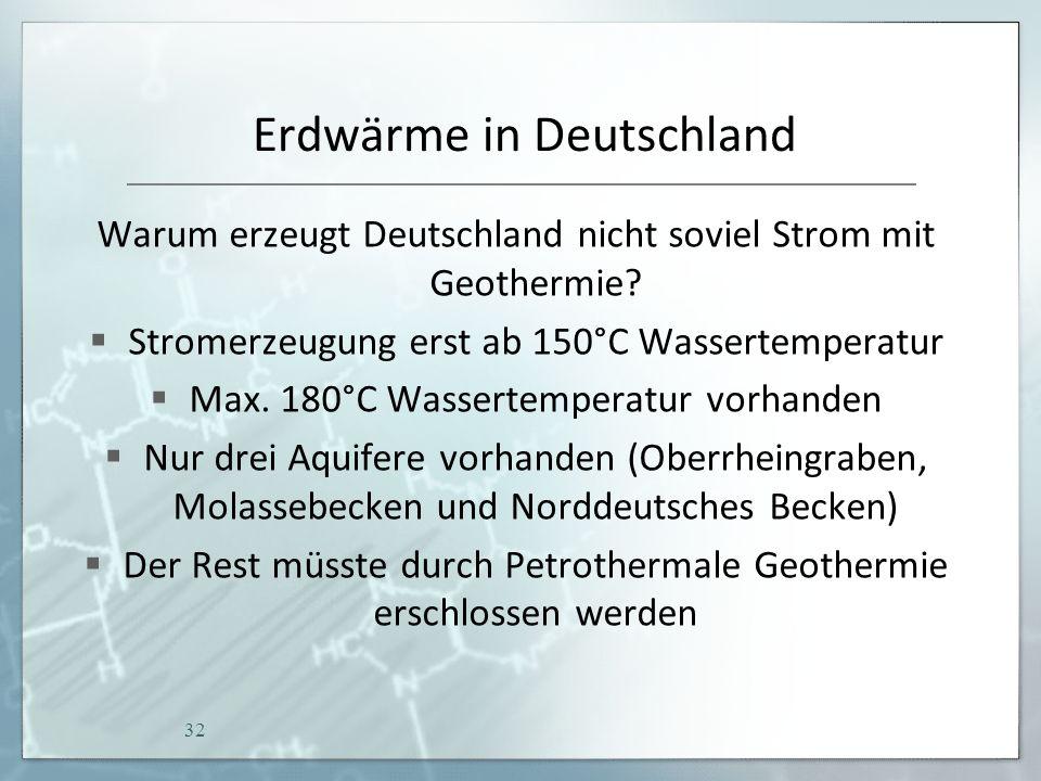Erdwärme in Deutschland