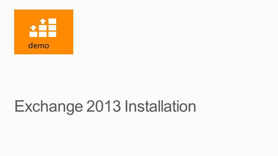 Exchange 2013 Installation