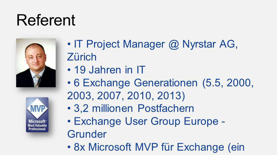 Referent IT Project Nyrstar AG, Zürich 19 Jahren in IT