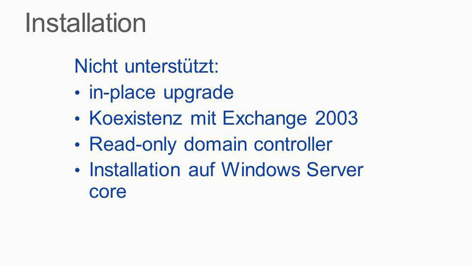 Installation Nicht unterstützt: in-place upgrade