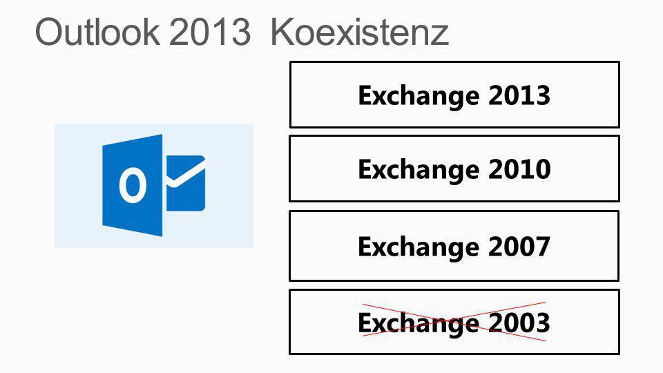 Outlook 2013 Koexistenz Exchange 2013 Exchange 2010 Exchange 2007