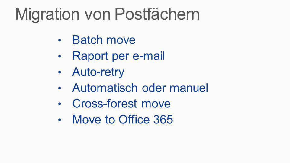 Migration von Postfächern