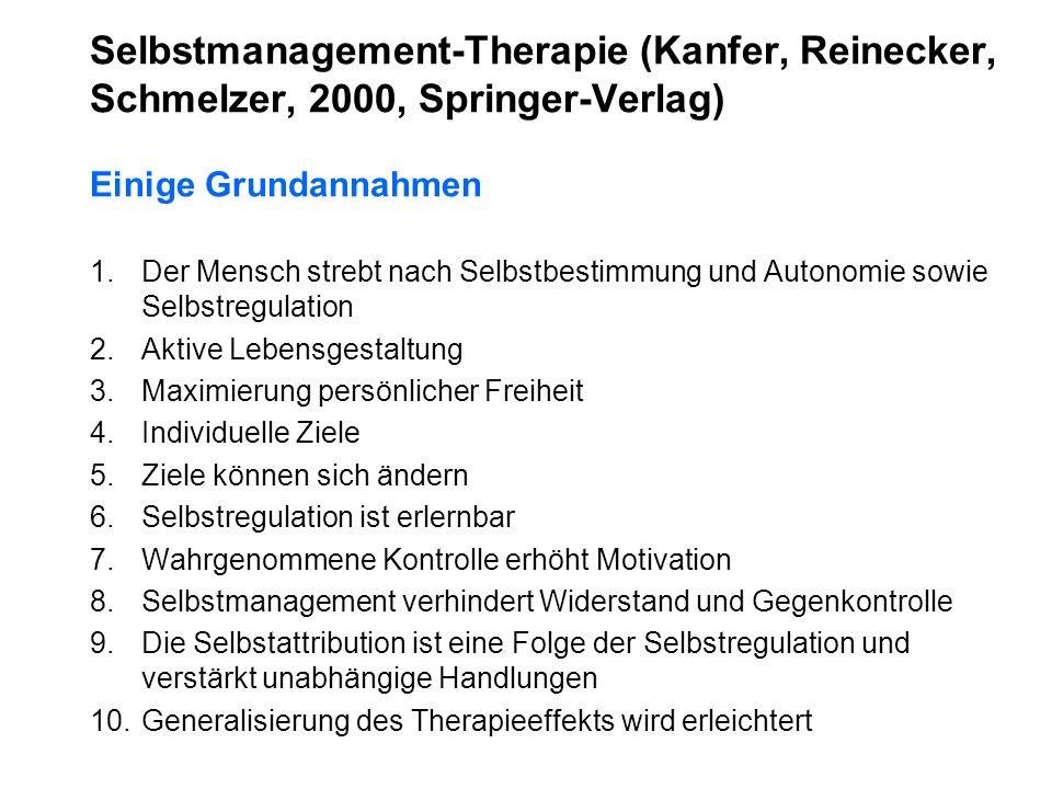 Selbstmanagement-Therapie (Kanfer, Reinecker,