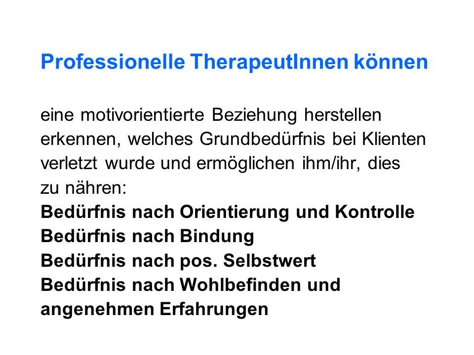 Professionelle TherapeutInnen können