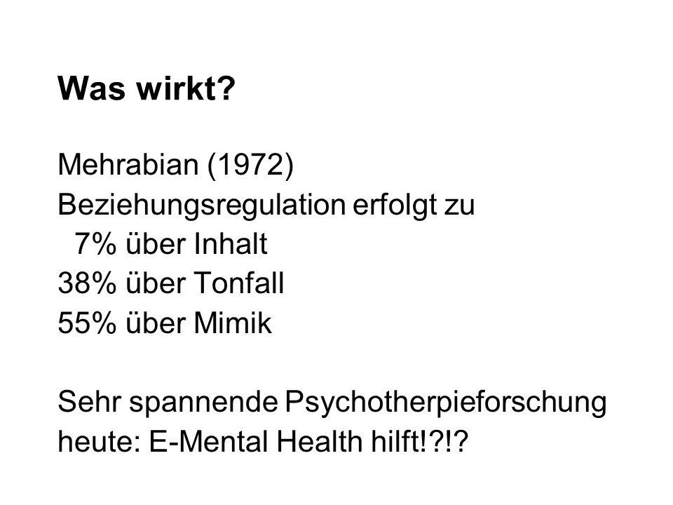Was wirkt Mehrabian (1972) Beziehungsregulation erfolgt zu