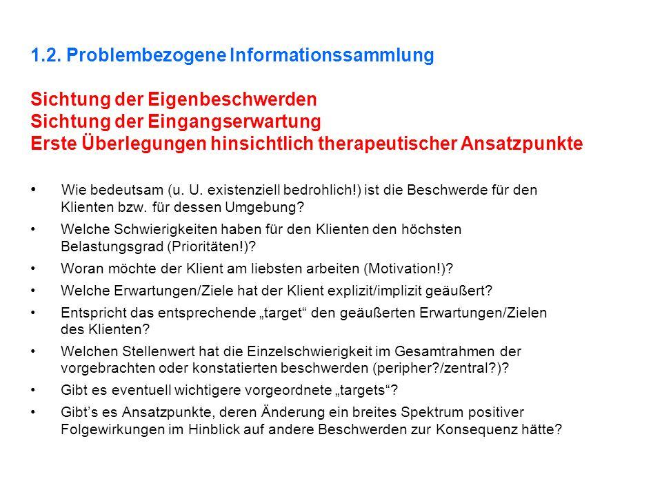 1.2. Problembezogene Informationssammlung