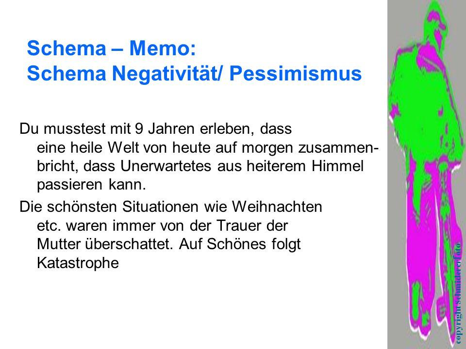 Schema – Memo: Schema Negativität/ Pessimismus
