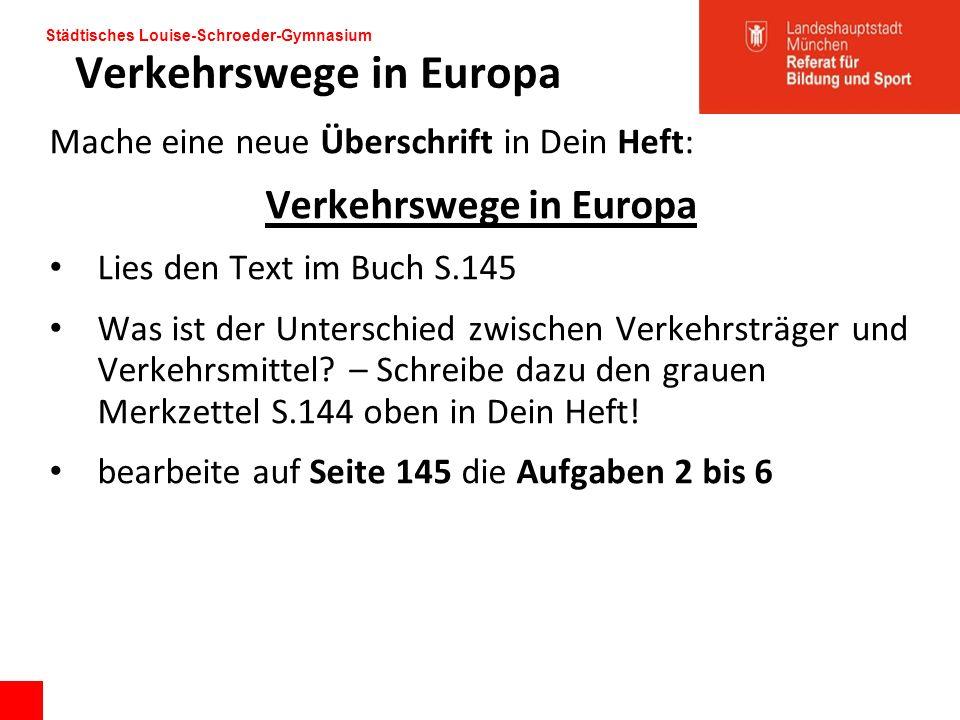 Verkehrswege in Europa