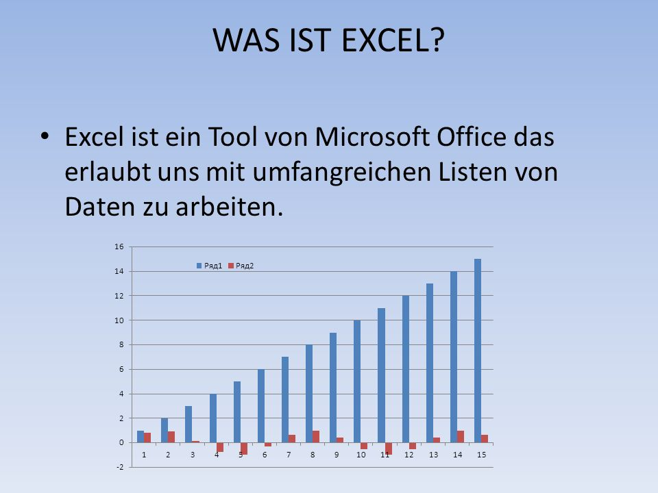 WAS IST EXCEL.