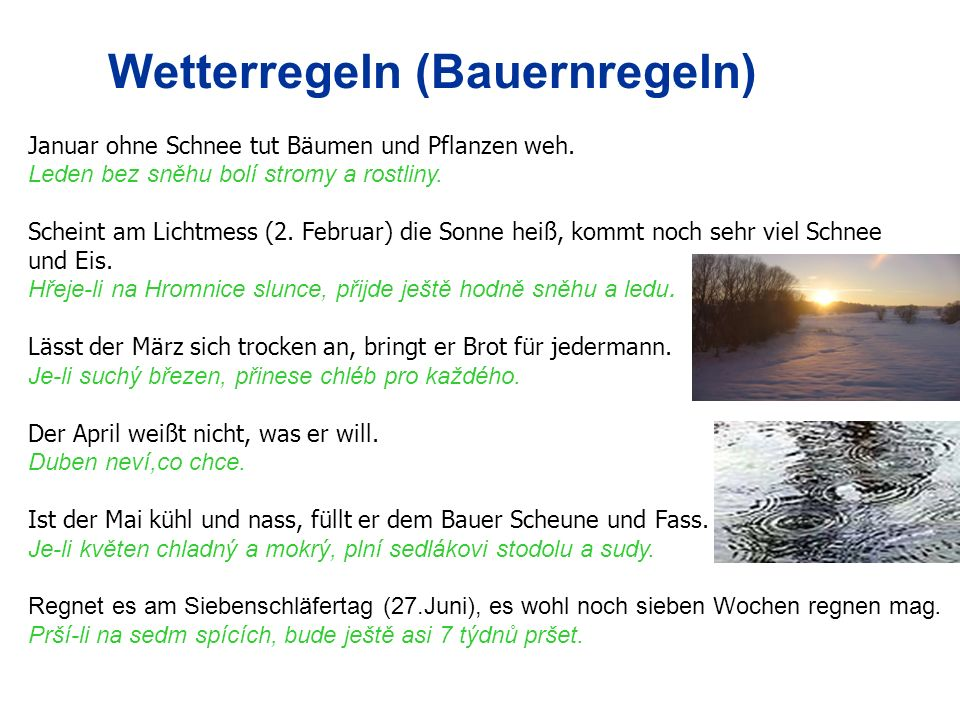 Wetterregeln (Bauernregeln)