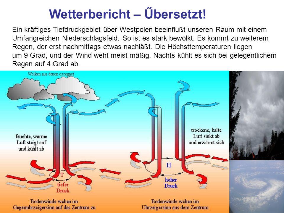 Wetterbericht – Űbersetzt!