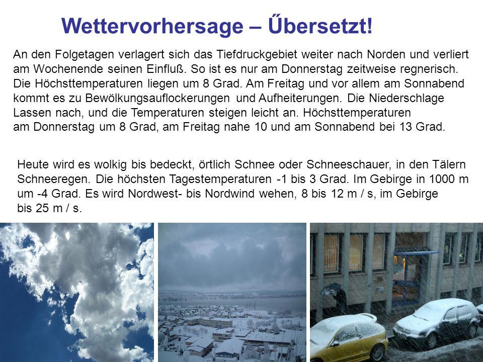 Wettervorhersage – Űbersetzt!