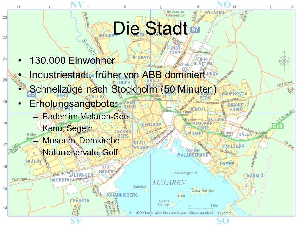 Die Stadt 130.000 Einwohner Industriestadt, früher von ABB dominiert