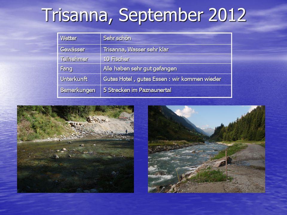 Trisanna, September 2012 Wetter Sehr schön Gewässer