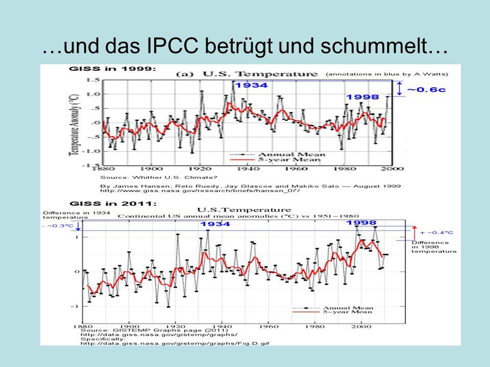 …und das IPCC betrügt und schummelt…