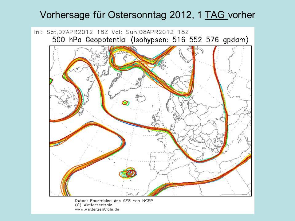 Vorhersage für Ostersonntag 2012, 1 TAG vorher