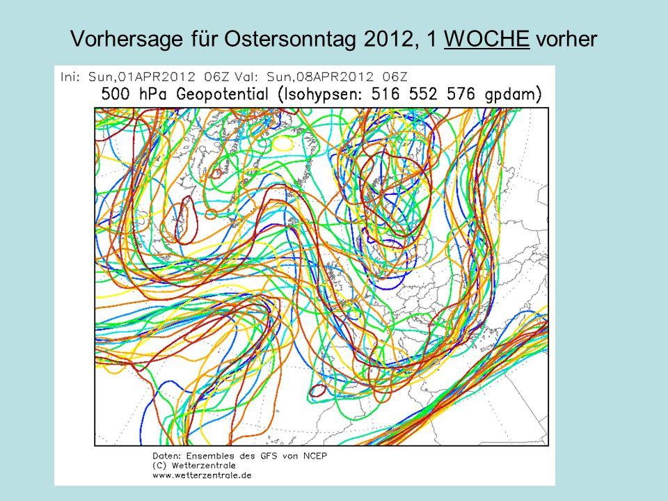 Vorhersage für Ostersonntag 2012, 1 WOCHE vorher