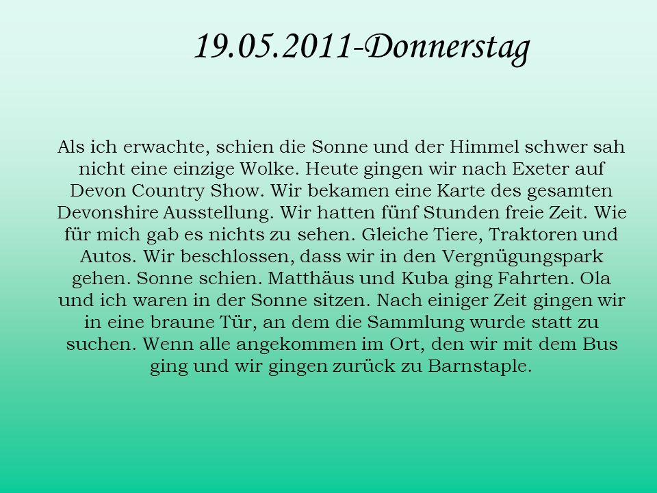 19.05.2011-Donnerstag