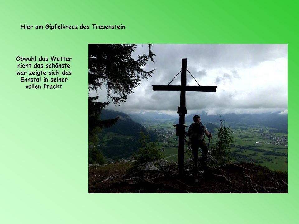 Hier am Gipfelkreuz des Tresenstein