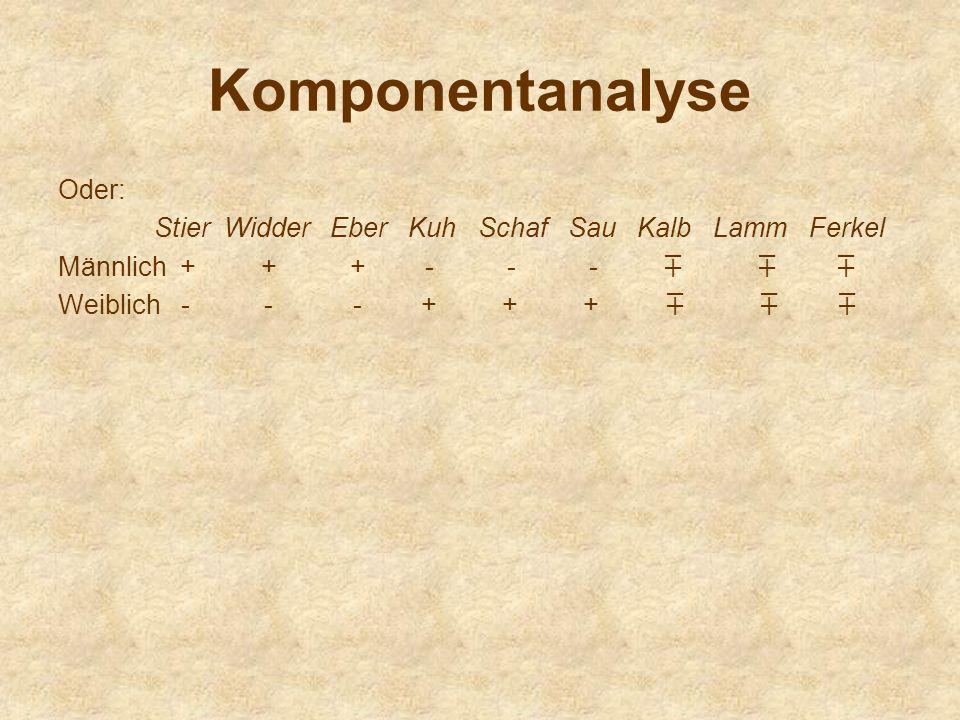 Komponentanalyse Oder: