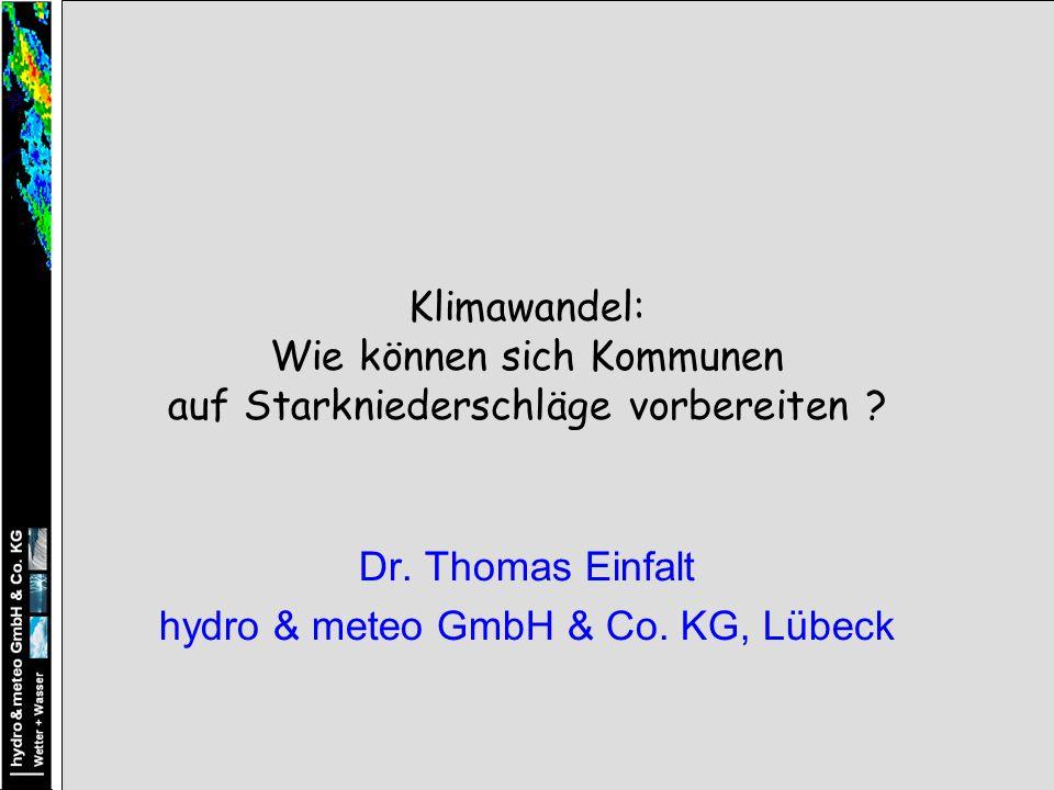 Dr. Thomas Einfalt hydro & meteo GmbH & Co. KG, Lübeck