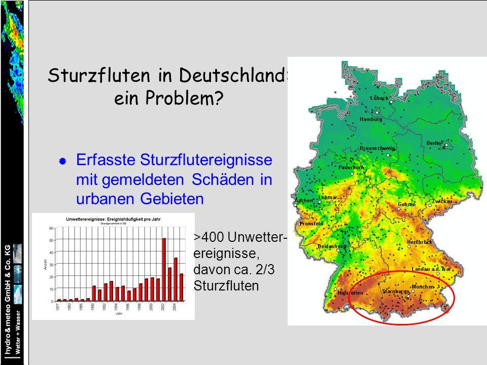 Sturzfluten in Deutschland: ein Problem