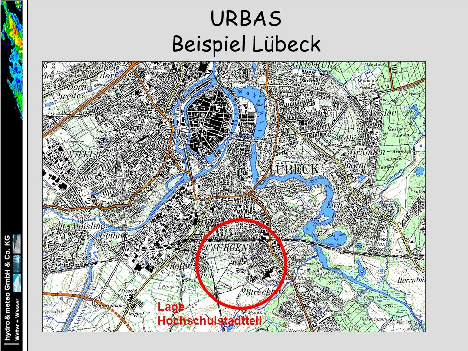 URBAS Beispiel Lübeck Lage Hochschulstadtteil