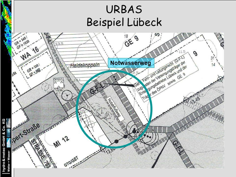 URBAS Beispiel Lübeck Notwasserweg