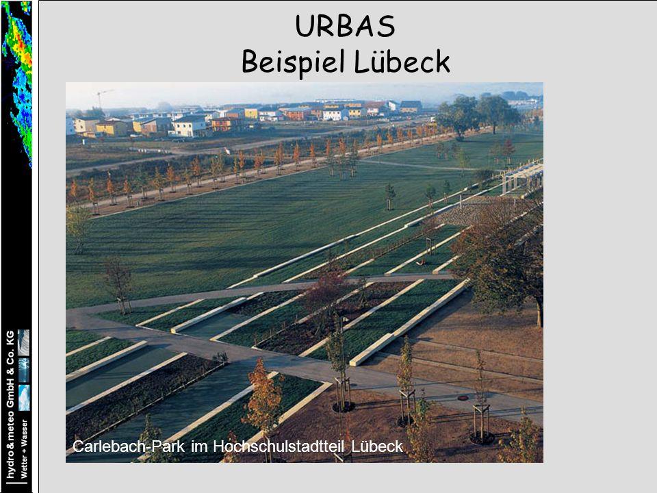 URBAS Beispiel Lübeck Carlebach-Park im Hochschulstadtteil Lübeck