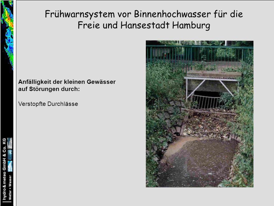 Frühwarnsystem vor Binnenhochwasser für die Freie und Hansestadt Hamburg