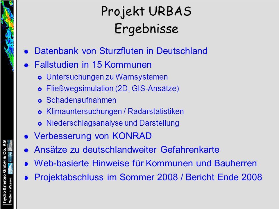 Projekt URBAS Ergebnisse