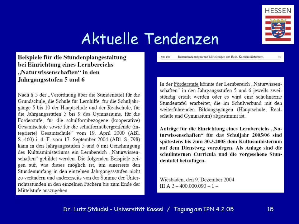 Dr. Lutz Stäudel - Universität Kassel / Tagung am IPN 4.2.05
