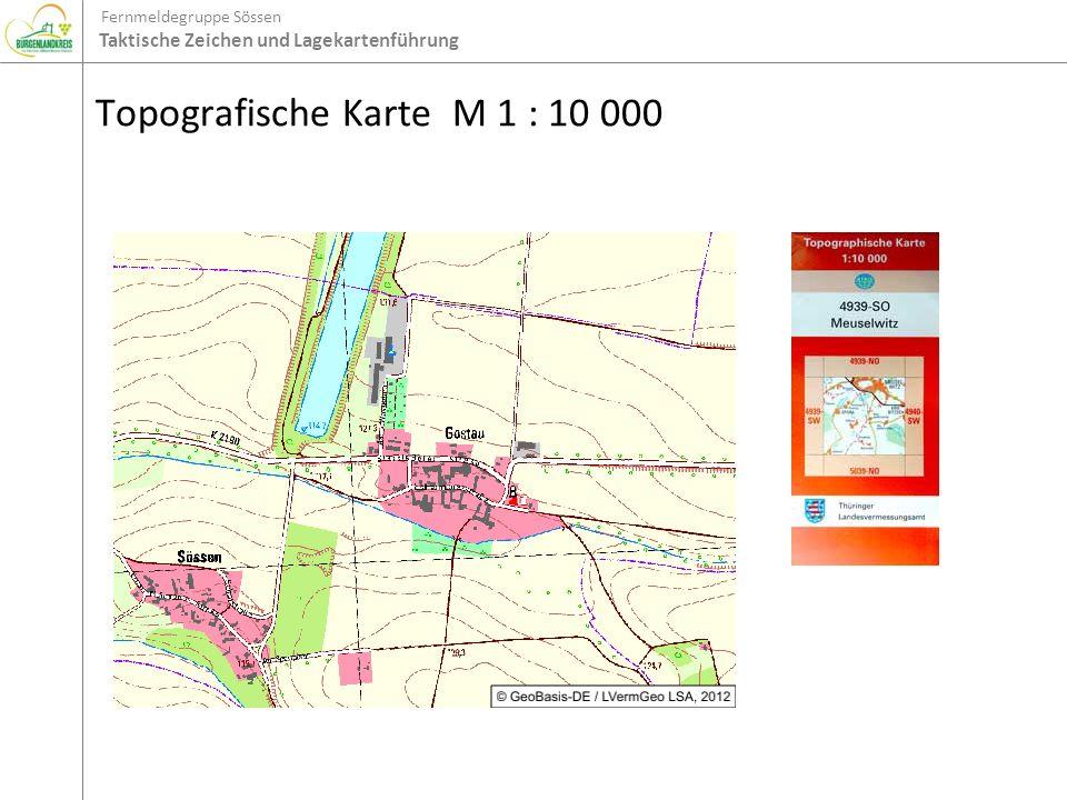 Topografische Karte M 1 : 10 000