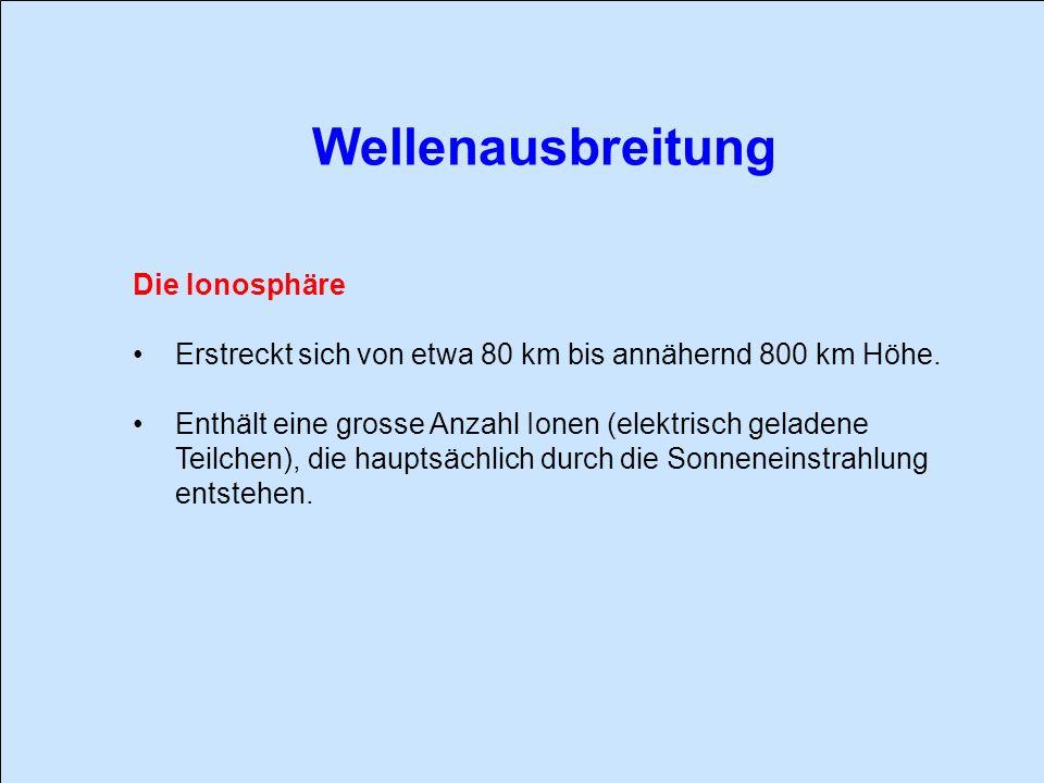 Wellenausbreitung Die Ionosphäre