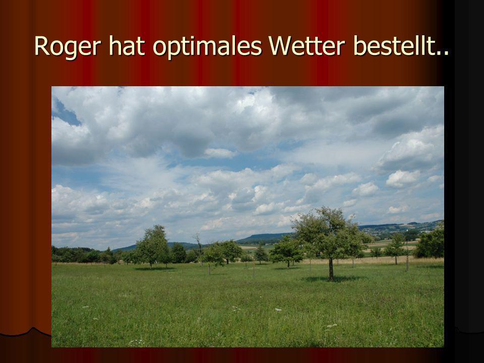 Roger hat optimales Wetter bestellt..