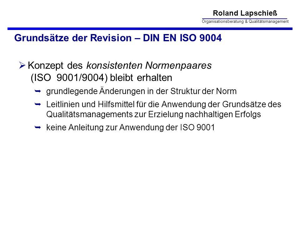 Grundsätze der Revision – DIN EN ISO 9004