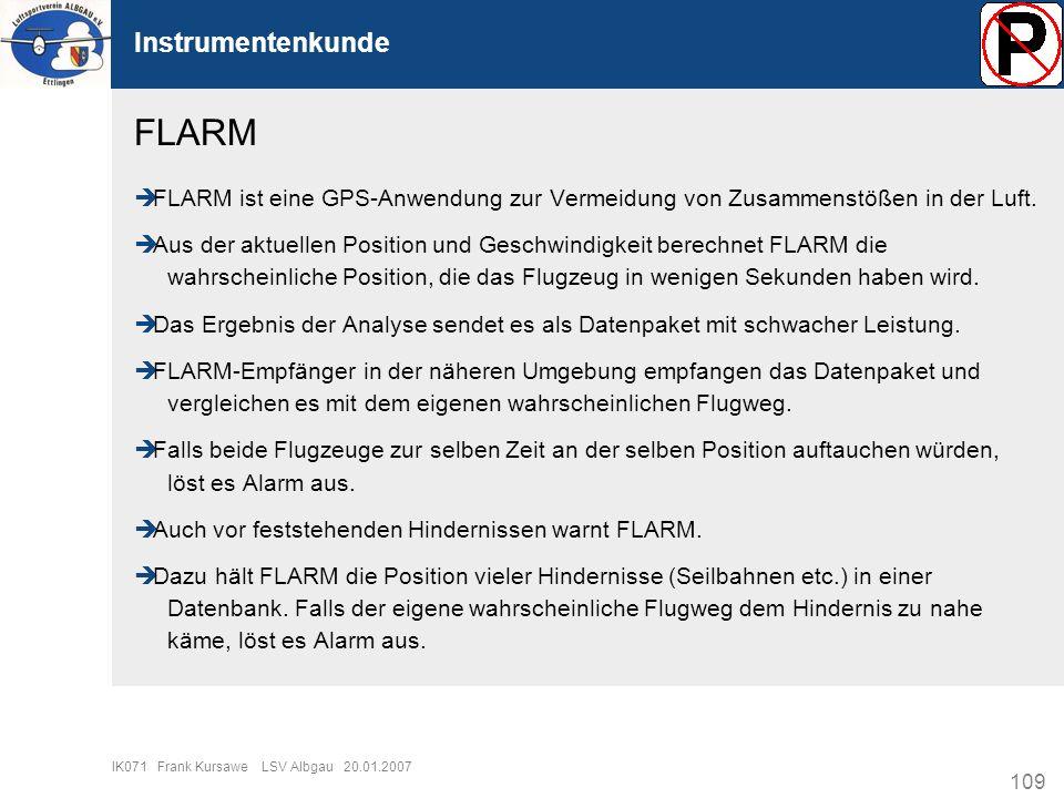 FLARM Instrumentenkunde