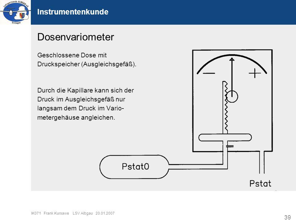 Dosenvariometer Instrumentenkunde