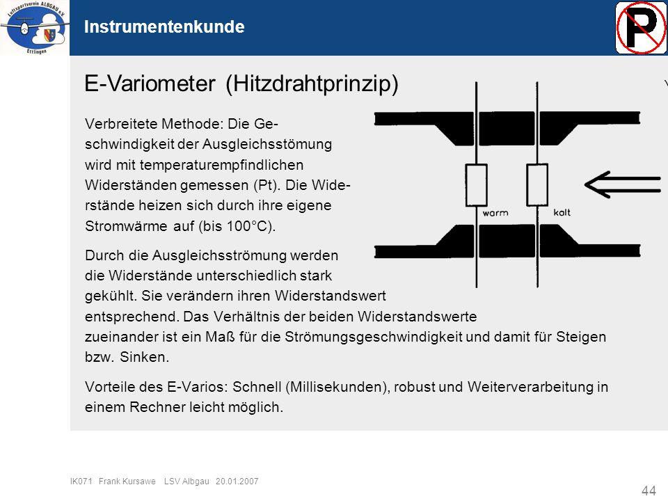 E-Variometer (Hitzdrahtprinzip)