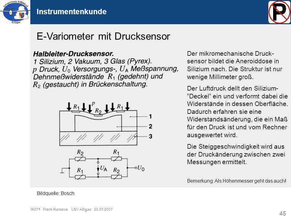 E-Variometer mit Drucksensor