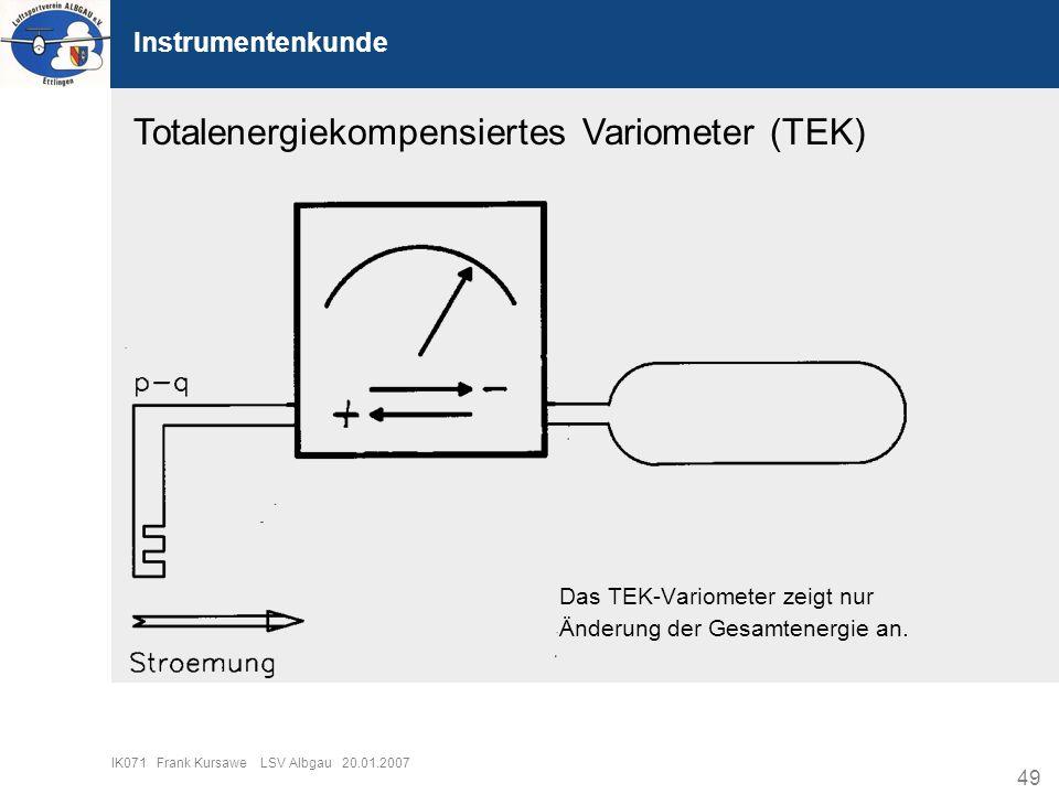 Totalenergiekompensiertes Variometer (TEK)