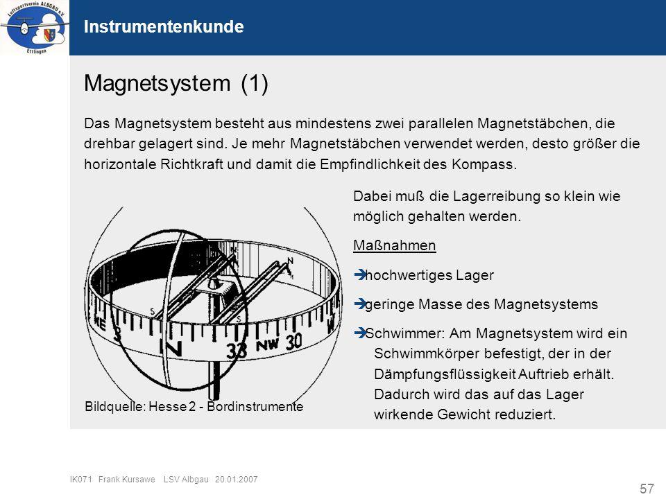 Magnetsystem (1) Instrumentenkunde