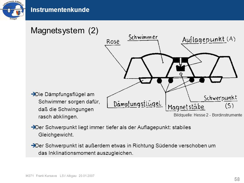 Magnetsystem (2) Instrumentenkunde