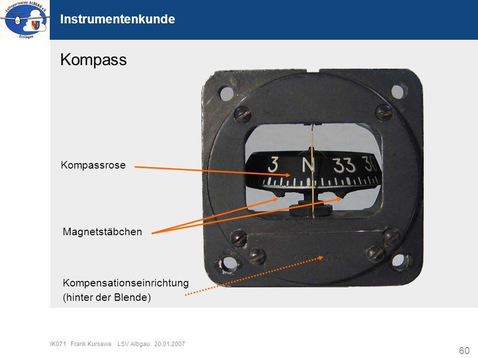 Kompass Instrumentenkunde Kompassrose Magnetstäbchen