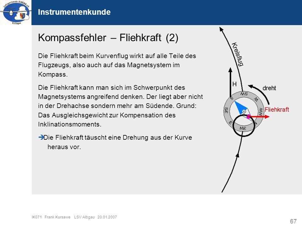 Kompassfehler – Fliehkraft (2)